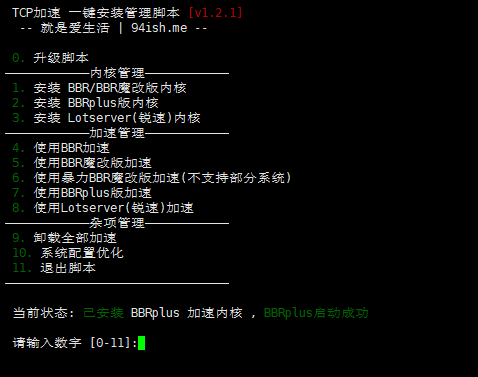 TCP加速一键安装