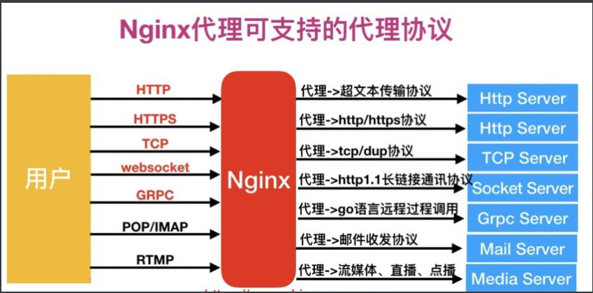 nginx正向代理支持的协议