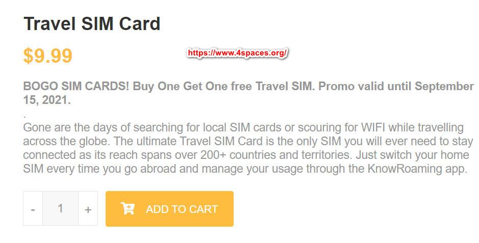 knowroaming travel sim card buy 2